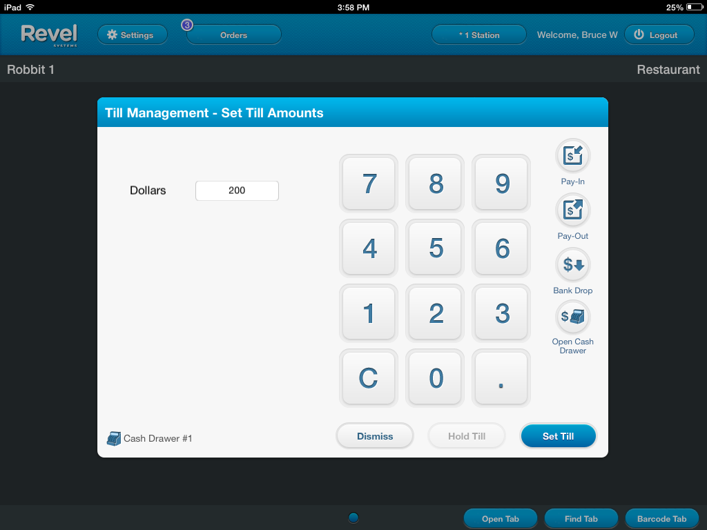 Tills: Overview – Individual Point of Sale